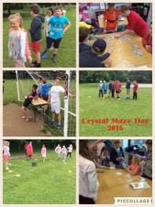 Year 5 and Year 6 Crystal Maze Activity Day